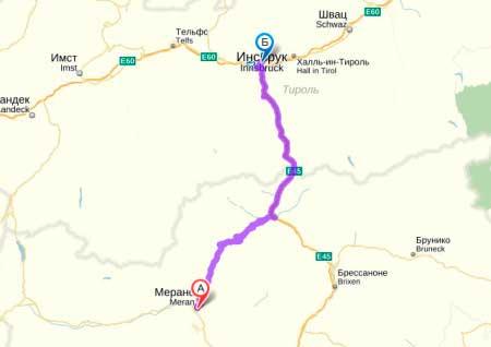 Ближайшие международные аэропорты Инсбрук, Австрия