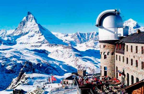 церматт швейцария зимой фото