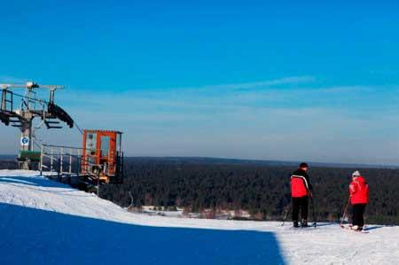 Вид с самой высшей точки курорта