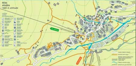 Схема горного поселка Арабба
