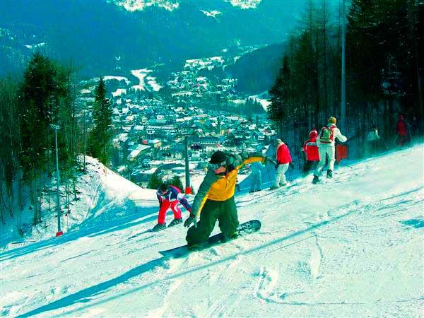 Идеальное место для начинающих лыжников