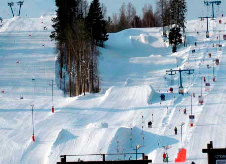 Спуск для лыжных акробатов