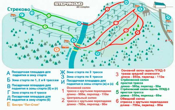Схема региона катания