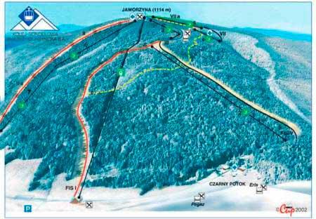 Схема трасс Явожина