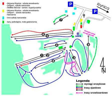Схема трасс Слотвины и Чарны Поток