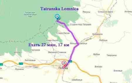 Татранска Ломница (Tatranska Lomnica) - как добраться