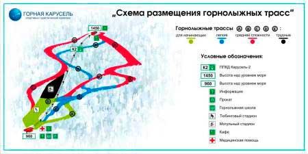 «Горная карусель» схема трасс