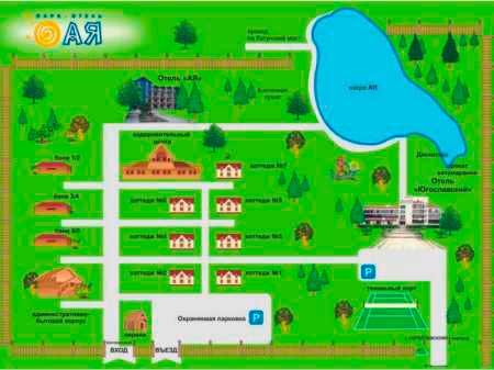 Парк-отель Ая схема