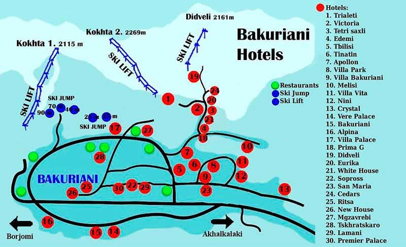 Схема трасс бакуриани