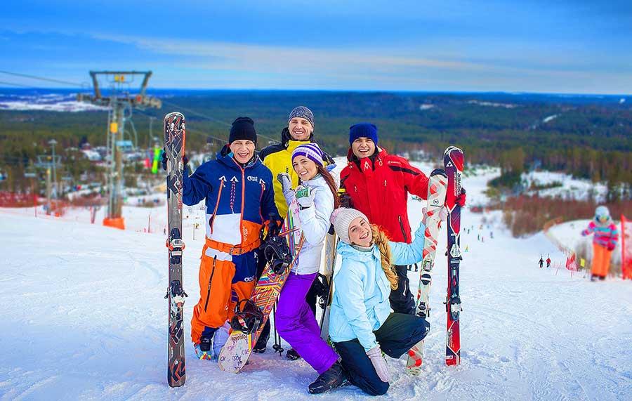 Новый год на лыжной базе в ленобласти