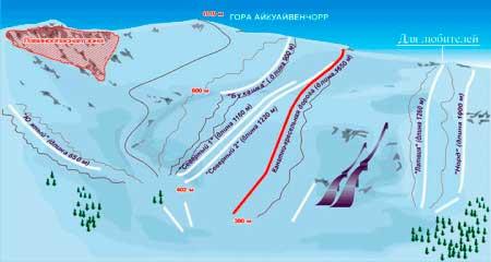Гора Айкуавенчорр, карта склона
