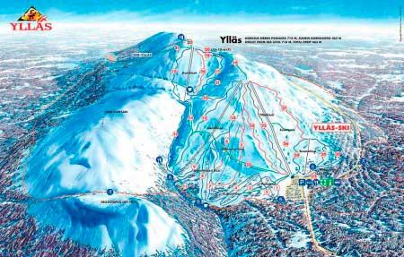 Карта склонов Yllas