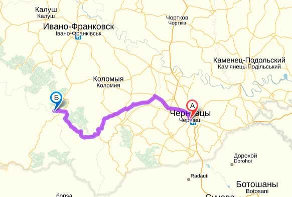 Как добраться из Черновцов