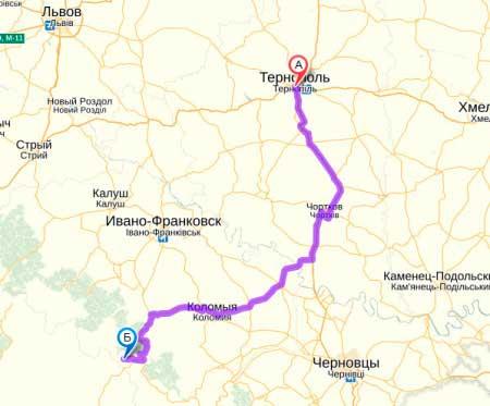 Как добраться из Тернополя