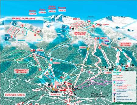 Карта региона Borovets
