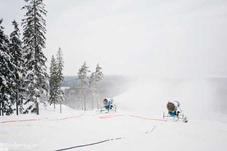 Формирование искусственный снег