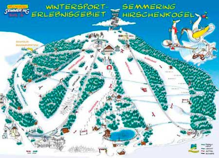 Схема трасс Semmering