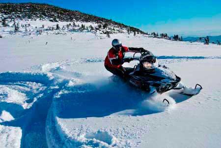 Снегоход на Шерегеш