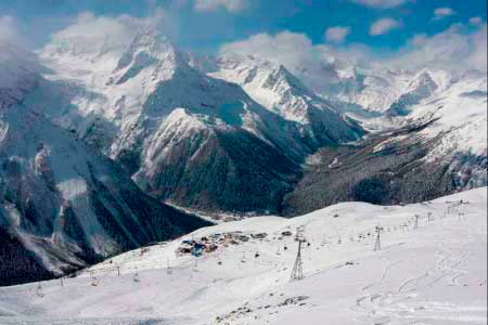 Горы в Домбае