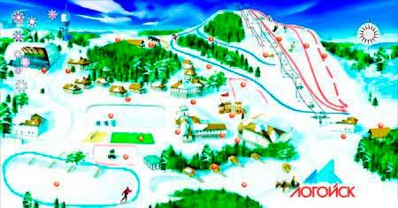 Горные лыжи в Логойске