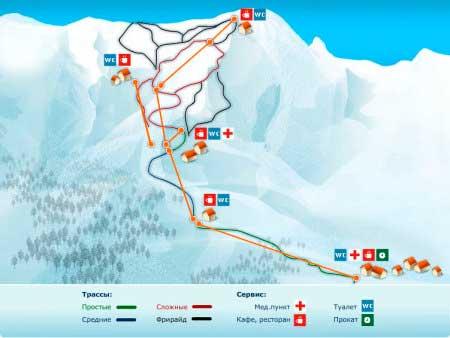 «Альпика-Сервис» схема трасс
