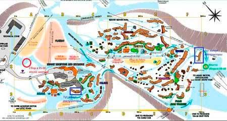 Схема курортной зоны