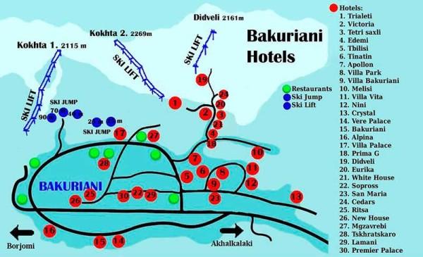 Схема гостиниц