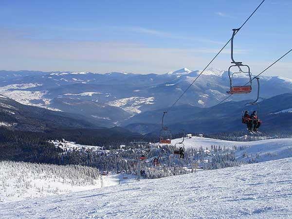 Вид на Карпатские горы