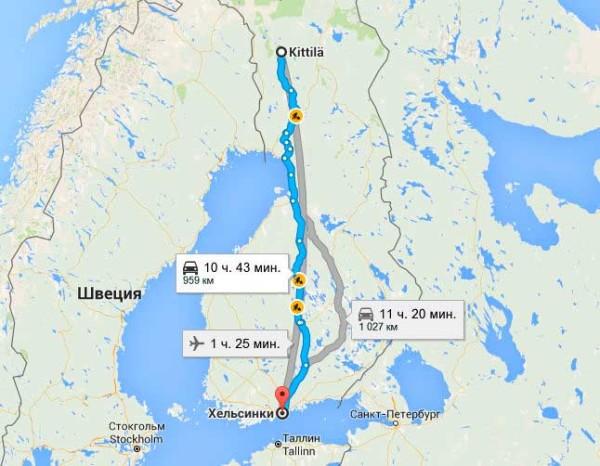 • Самолетом из Хельсинки в Киттиль