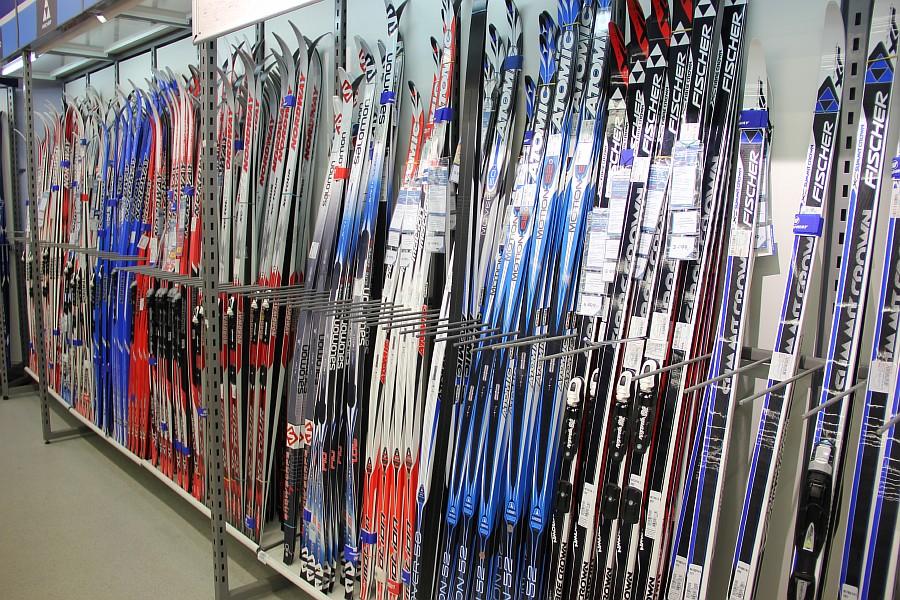 Обработка лыж.